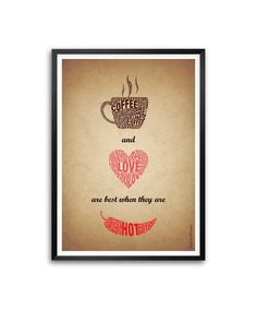 """http://www.amazon.in/s/ref=bl_sr_kitchen?ie=UTF8&field-brandtextbin=Lab+No.+4+-+The+Quotography+Department&node=976442031 Lab No.4 Coffee and Love are best Coffee Shop Wall Decor Framed Poster In A3 (16.5"""" X 11.7"""") #Love #Quotes"""