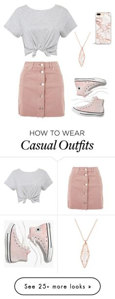 """Fancy Casual"" by sfudge16 on Polyvore featuring Topshop, Madewell and Kendra Scott"