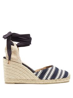 Click here to buy Castañer Carina woven wedge espadrilles at MATCHESFASHION.COM