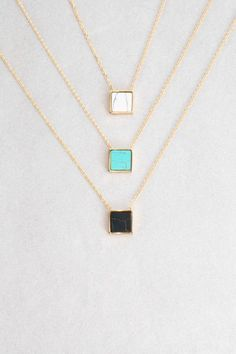 Emmy Stone Necklace | Gold (14K) $16