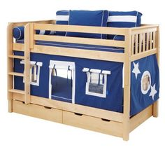 cute boys bunkbed Aaron wants tothe beds reversed. This is cheap and perfect!!