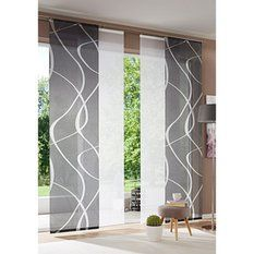 Japanese «design curtains by Patio Door Coverings, Curtains, Door Glass Design, Curtain Decor, Curtains Living Room, Panel Blinds, Curtain Designs, Curtains With Blinds, Window Coverings