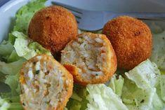 Gebackene Reisknödel - Rezept   GuteKueche.at Austrian Recipes, Baked Potato, Food And Drink, Potatoes, Baking, Breakfast, Ethnic Recipes, Kitchens, Vegetarian Recipes
