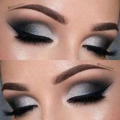 Dramatic Black and Silver Prom Eye Makeup Look #eyemakeup #EyeMakeupBronze - #black #dramatic #Eye #eyemakeup #eyemakeupbronze #makeup #Prom #silver #EyelashExtensionsAftercare