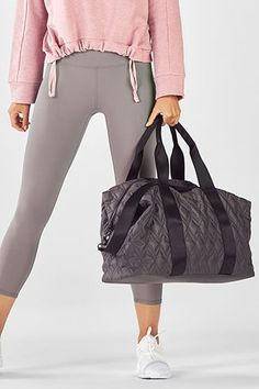 Dial in that destination-envy in our travel-ready duffel bag, built with an exterior pocket, interior shoe bag and a removable shoulder strap for more carrying options. Duffel Bag, No Equipment Workout, Yoga Pants, Gym Bag, Shoulder Strap, Shoe Bag, Clothes For Women, Brown, Fitness