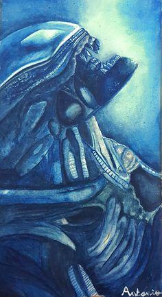 #arte #alien #acuarela #watercolor