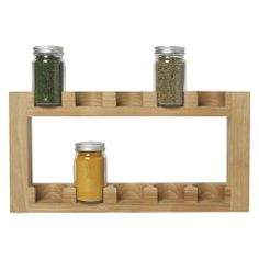 MADERA Wooden spice rack