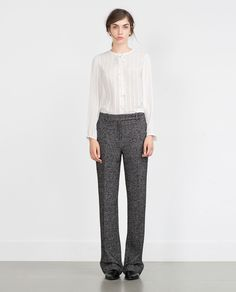 Image 1 of BLOUSE WITH BOW from Zara
