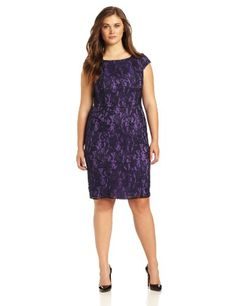 Adrianna Papell Women's Lace Semi Peplum Dress, Purple With Navy Lace Overlay, 12 Adrianna Papell,http://www.amazon.com/dp/B00E0DI096/ref=cm_sw_r_pi_dp_C04-sb11412DRVX8