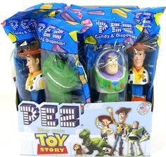 Toy Story Pez Dispenser & Candy. Got these for Joey's Toy Story Party