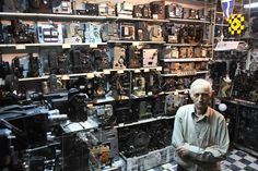 Camera collector Dimitris Pistiolas is seen at his museum in central Athens, Greece. Pistiolas owns the world's largest private collection of movie cameras, 937 vintage models and projectors, making this museum the largest of its kind in the world.