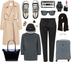 Plane outfits for the winter air travel outfits, winter travel outfit, va. Air Travel Outfits, Winter Travel Outfit, Travel Clothes Women, Winter Outfits, Travel Clothing, Vacation Wardrobe, Travel Wardrobe, Capsule Wardrobe, Airplane Outfits