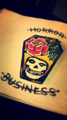 Misfits horror business flash tattoo by sayra
