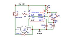 PWM controller for DC Motor using 555 timer IC » 555 timer IC Hackatronic Battery Charger Circuit, Automatic Battery Charger, Power Backup, Ac Power, Simple Circuit, Electronic Schematics, Motor Speed