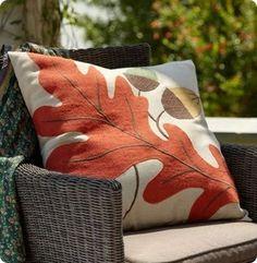Burlap Leaf Pillow