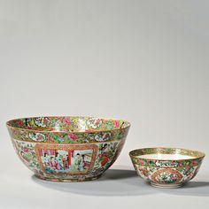 Two Rose Medallion Porcelain Bowls. | Auction 2903T | Estimate $600-$800