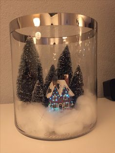 Christmas in a glass bell