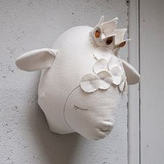 Love this sleeping lamb for baby's nursery to keep nighttime watch like a shepherd.