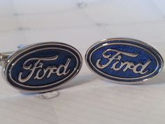 Fathers Day - Ford Cufflinks- Mens Cuff links, Ford Design, with a Gift Box Car lover, Auto enthusiast