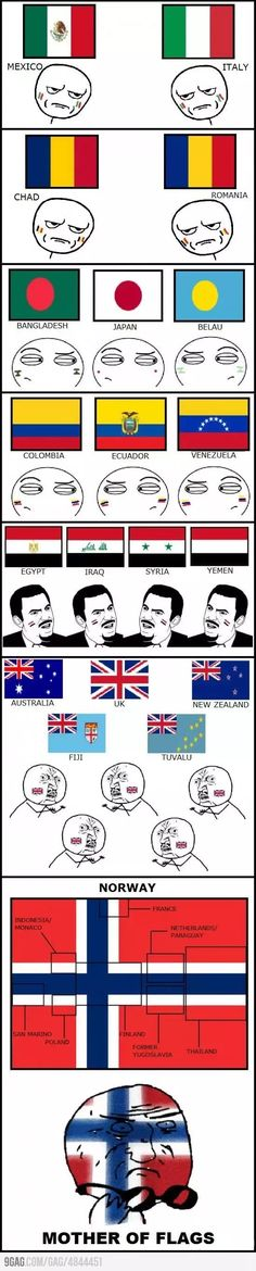 What countries have very similar looking flags? - Quora