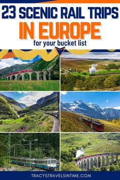Do you love train travel? Read about some of the most beautiful train journeys in Europe in this epic article which includes information about such iconic rail journeys as the Bernina Express and the Flamsbana. #traintravel #europe European Road Trip, Road Trip Europe, European Vacation, European Travel, Europe Train Travel, Europe Travel Guide, Cruise Travel, Travel Destinations, Norway Travel