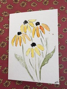 A personal favorite from my Etsy shop https://www.etsy.com/listing/604392091/watercolor-cards-hand-painted-flower