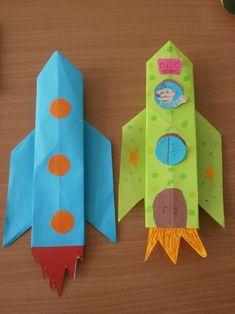 Поделки ко Дню Космонавтики (оригами, аппликация, мастер-класс) - Для воспитателей детских садов - Маам.ру