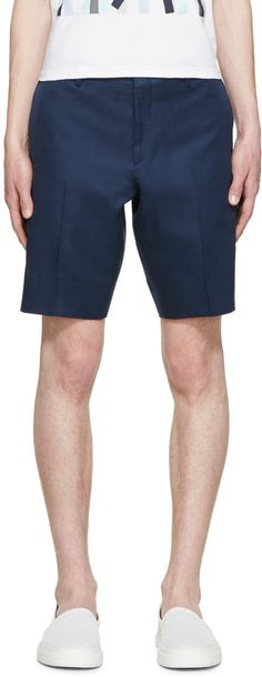 PS by Paul Smith Blue Mens / Gents Shorts Slim-fit shorts in 'indigo' blue- these look perfect as it is so hard to find slim fit shorts.