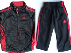 Adidas Warm Up Suit, Lined Nylon Jacket and Pants, Size 2T