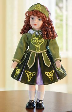 Collectible Porcelain Dancing Irish Doll...Designed this one for Collections 2014