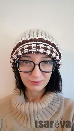 Hand Knit Beanie Hat Quinny. Free Shipping. Ready To Ship. Hand Knit Woman