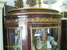 Elegant French Louis XVI Vernis Martin Vitrine/Curio Cabinet Ormolu Hand Painted Opulence on Etsy, $1,595.00