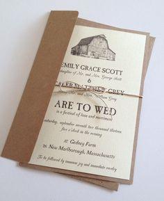 Barnyard wedding invitations