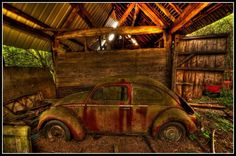 Barn find with his and hers split window VW Bugs. Description from pinterest.com. I searched for this on bing.com/images