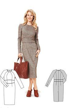 NR. 7128-DL Kleid mit Raglanärmeln