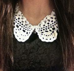 Destination Cute: DIY crochet collar necklace