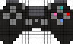 PS4 Controller Perler Bead Pattern