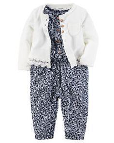 2-Piece Jumpsuit & Cardigan Set