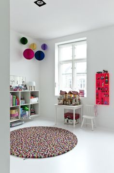 Colouful children's room featuring the Hay Pinocchio Rug http://www.nest.co.uk/product/hay-pinocchio-rug