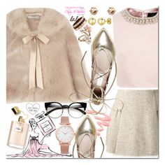 back with the pink ♥ Virtual Fashion, Larsson & Jennings, Chanel Ballet Flats, Cartier, Ted Baker, Steve Madden, Valentino, Coast, Chic