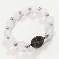 Bracelets By Vila Veloni Transparent Balls and Bright Circle