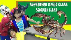Learn Colors in Superheroes Magic Class! Frozen Elsa Magic Giant Scorpio...
