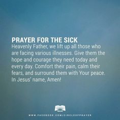 Inspirational Quotes for Ill Family Member - Inspirational Quotes for Ill Family Member, Prayers for Healing the Sick Bing Prayers Prayer For Healing The Sick, Prayers For Healing, Bible Prayers, Catholic Prayers, Power Of Prayer, My Prayer, Powerful Prayers, Prayer Room, Faith Prayer