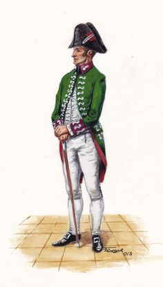 Spanish; Commissioner Artillery, attached to the Staff of Artillery 1803