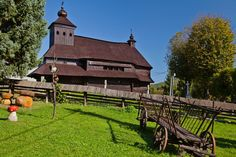 Wooden church in Ulicske Krive (Eastern Slovakia). Mother Family, Church Building, Bratislava, Slovenia, Czech Republic, Earth, European Countries, Iglesias, House Styles