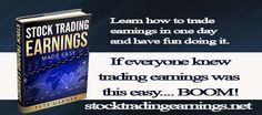 Trading Earnings News Releases are awesome. www.stocktradingearnings.com