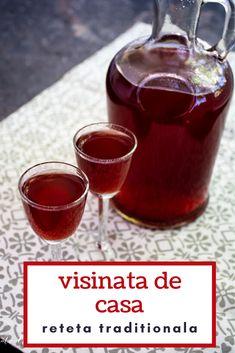 Rețeta tradițională de vișinată de casă. Vișinata este o băutură românească, un lichior de vișine prezent în casa oricărui om gospodar, mai ales la sărbători sau atunci când are oaspeți. #bucatearomate #visinata #retetavisinata #visine #visinatareteta #retetetraditionale #bauturi #visinatacualcool Romanian Food, Romanian Recipes, Cupcakes, Alcoholic Drinks, Recipies, Food And Drink, Muffins, Canning, Sweet Desserts