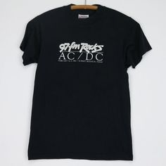 91c394dd1 ACDC Shirt Vintage tshirt 1982 97 FM Rocks For Those About To Rock tee  1980s Band Angus Young Malcol