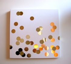 Super easy DIY tutorial for this adorable (some-what glittered) polka-dot canvas wall decor. From: mint love social club: {diy confetti art} Diy Wand, Diy Confetti, Confetti Wall, Glitter Confetti, Gold Glitter, Confetti Cards, Glitter Cardstock, Diy And Crafts, Wall Decor