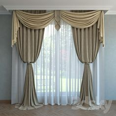 Classic Curtain Classic Curtains, Elegant Curtains, Modern Curtains, Luxury Curtains, Home Curtains, Curtain Styles, Curtain Designs, Rideaux Design, Drapes And Blinds